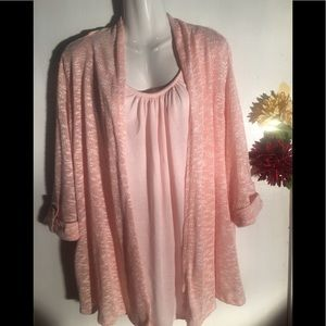 Faded Glory one piece cardigan and tank